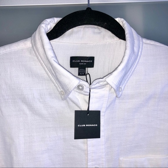 BNW Club Monaco Oxford Cotton Button Down Shirt